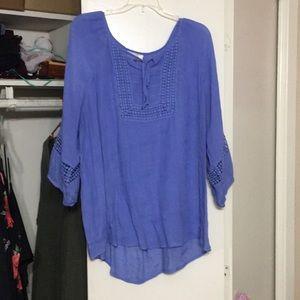 Periwinkle plus size blouse